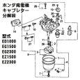 画像2: ホンダ発電機 キャブレターAssy. EG1500,EG2300 EZ1500,EZ2300 用 ※キャブ号機をご確認下さい。  (2)