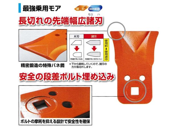 画像1: 自走草刈機  乗用モア用  最強乗用モア刃 大  (1)